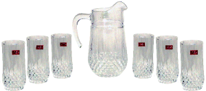 Cristal D' Arques Lemon Set 6 Glass + Jug