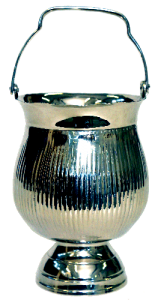White Metal Ice Bucket 6.5″