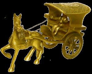 Brass Tonga/Ghoda Gadi Figure 7″