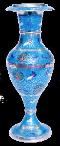 Kashmiri Brass Flower Vase 10″