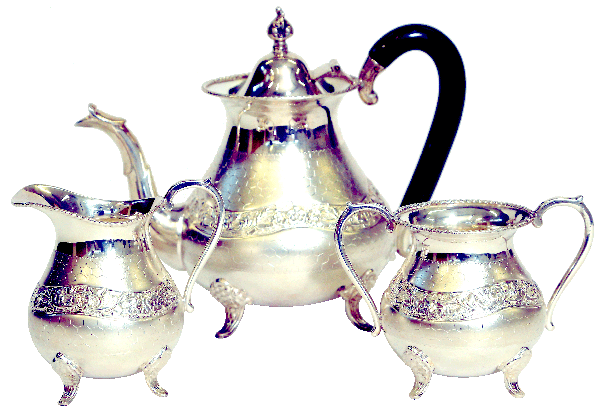 Naksh De Tea Set, Tea Pot, Milk Pot & Sugar Pot, 1032 Gms