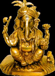 Ganesh Pagdi Brass Figure 9″