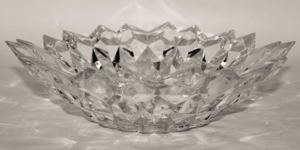 Crystal Quartz 32 Cm Round Bowl