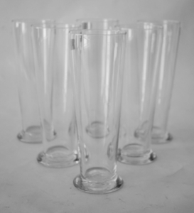 6 Pcs Glass Beer Mug Set
